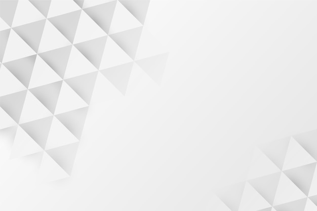 Fundo branco poli em estilo de papel 3d Vetor grátis