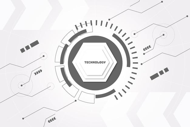 Fundo branco tecnologia Vetor Premium