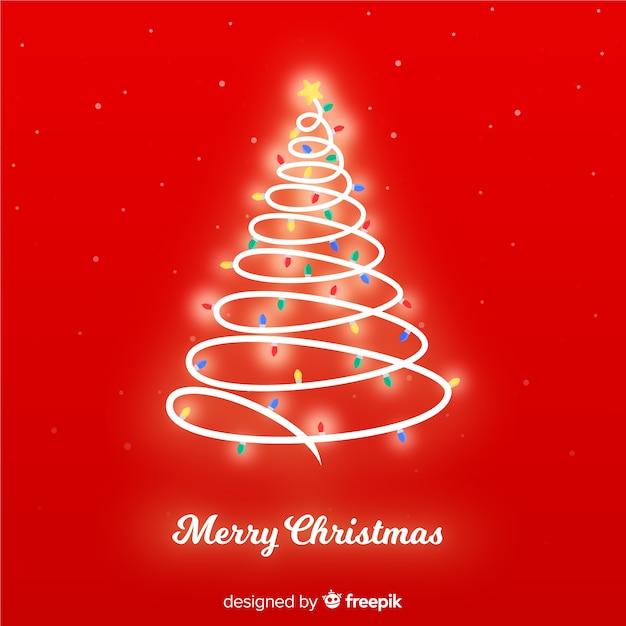 Fundo brilhante de árvore de natal Vetor grátis