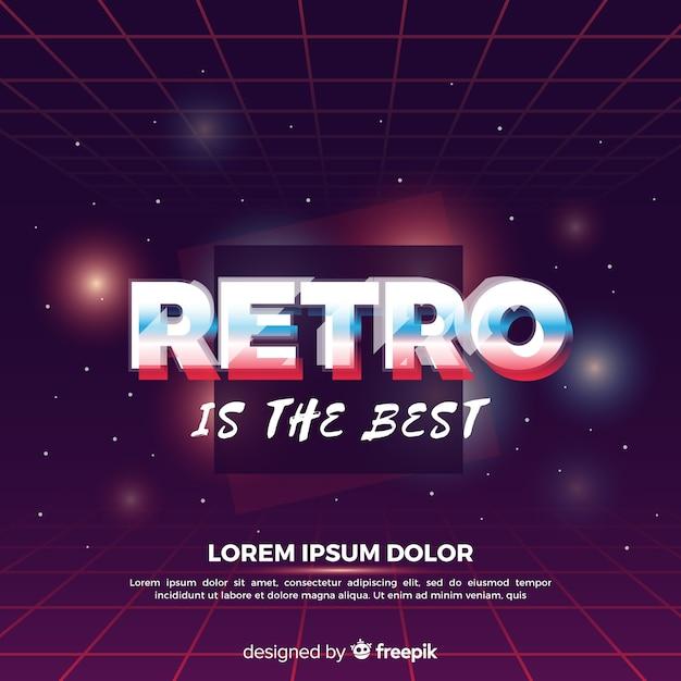 Fundo brilhante dos anos 80 Vetor Premium