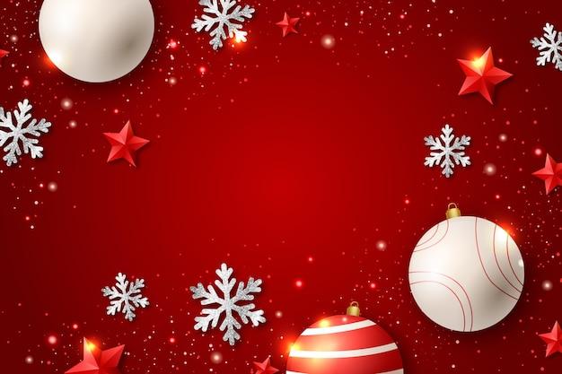 Fundo cintilante de natal Vetor grátis