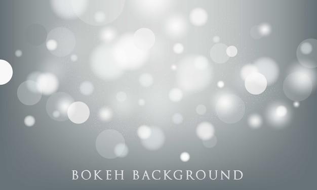 Fundo cinza bokeh, abstrato, textura leve Vetor Premium