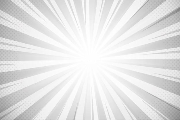 Fundo cinza lindo raio para quadrinhos Vetor Premium