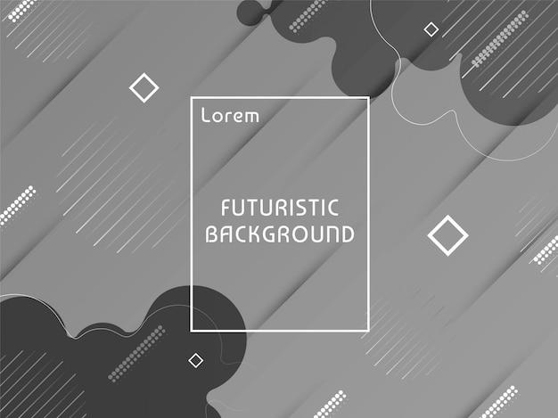 Fundo cinzento futurista moderno abstrato Vetor grátis