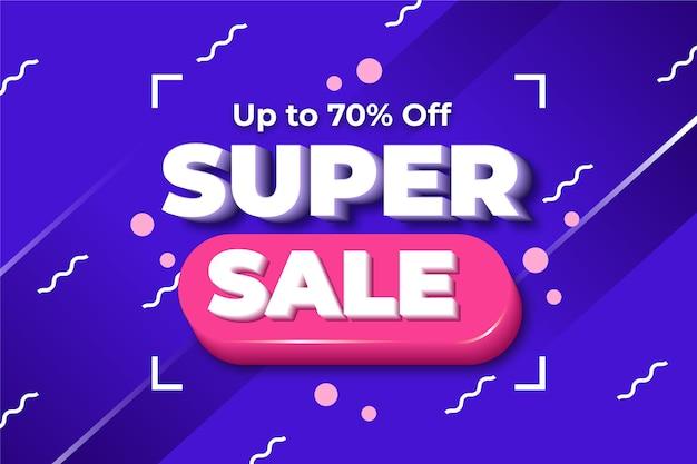 Fundo colorido 3d super vendas Vetor grátis