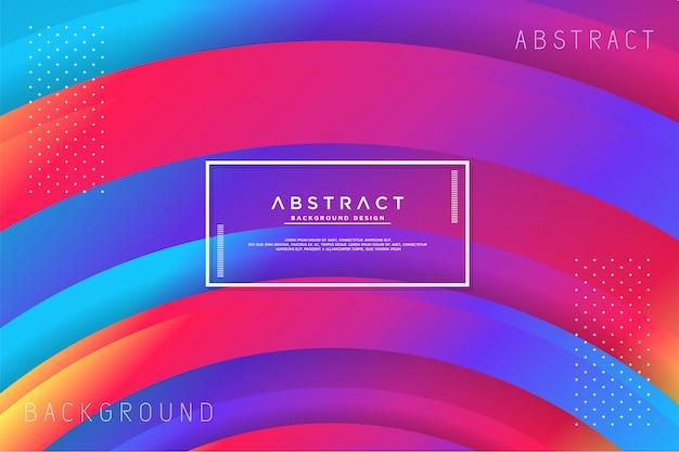 Fundo colorido abstrato círculo Vetor Premium