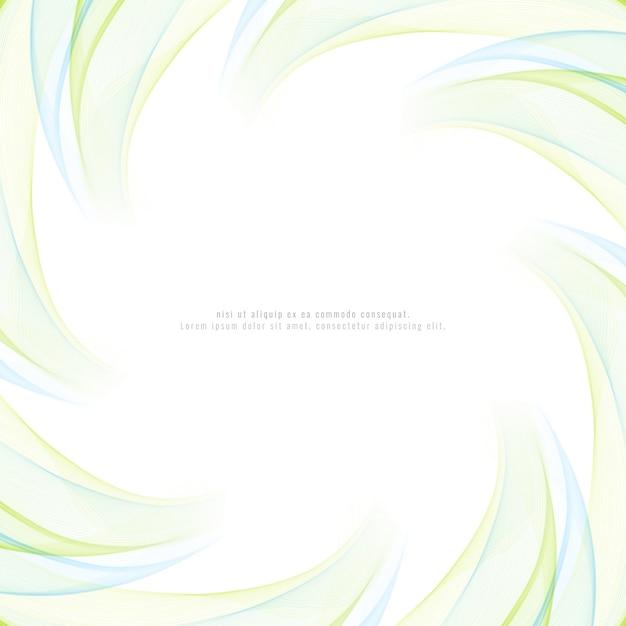 Fundo colorido abstrato do redemoinho da onda Vetor grátis