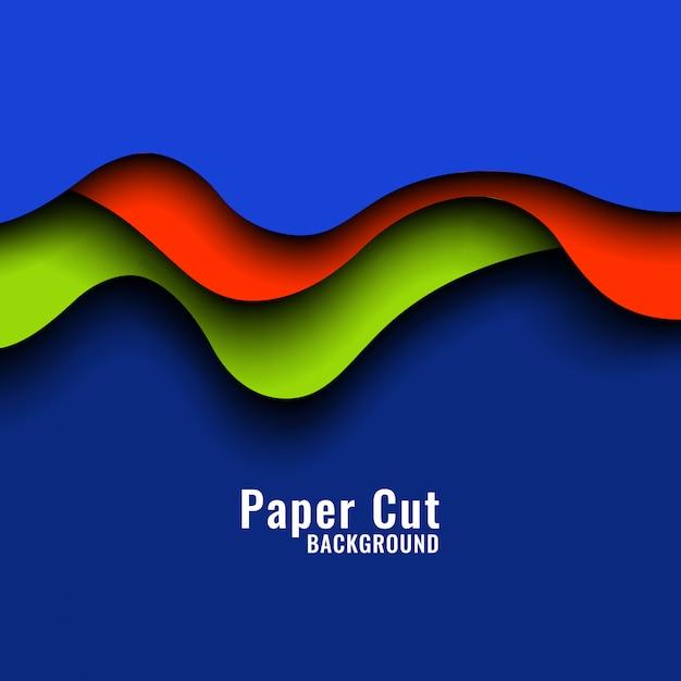 Fundo colorido abstrato papercut Vetor grátis