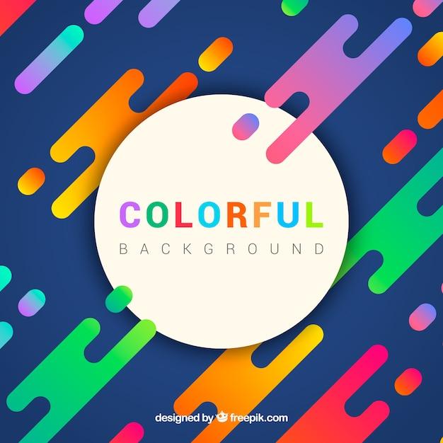 Fundo colorido abstrato Vetor grátis