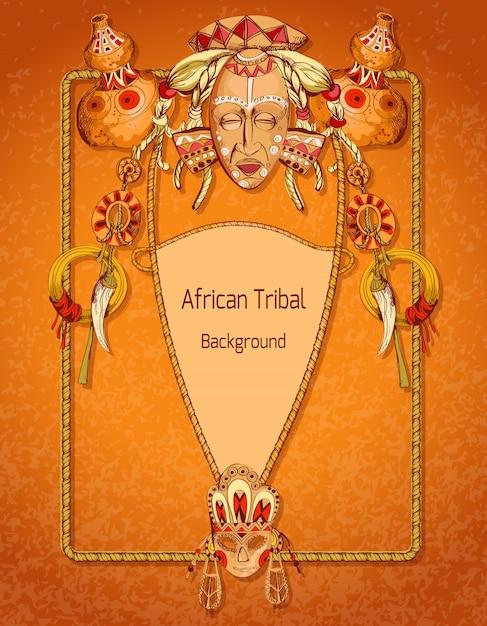 Fundo colorido africano Vetor Premium