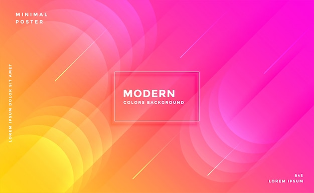 Fundo colorido cor-de-rosa e amarelo brilhante vibrante moderno Vetor grátis