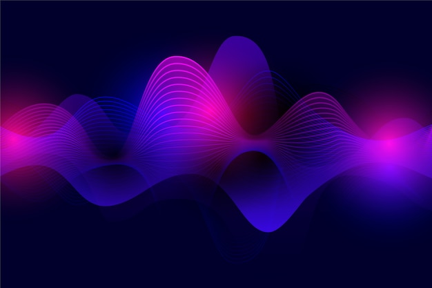 Fundo colorido da onda do equalizador Vetor grátis