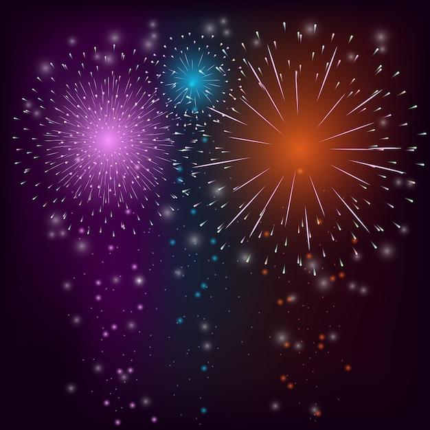 Fundo colorido de fogo de artifício Vetor grátis