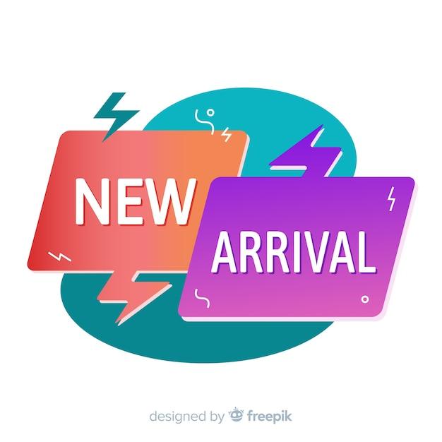 Fundo colorido de nova chegada Vetor grátis