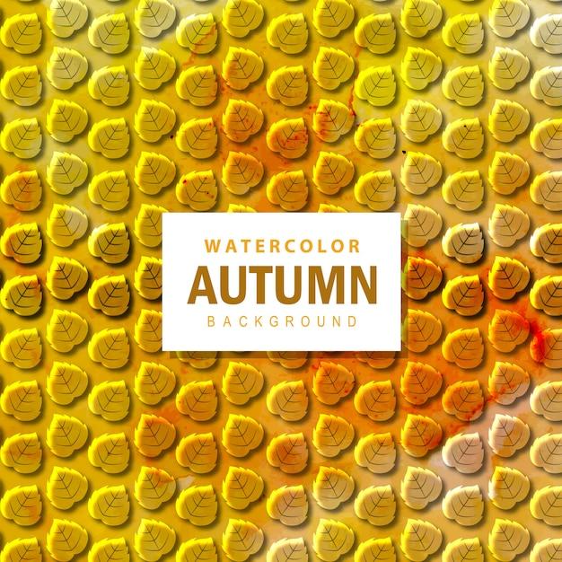 Fundo colorido de outono aquarela Vetor grátis