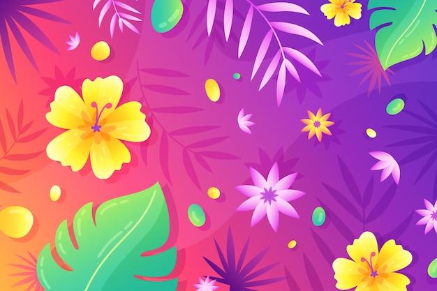 Fundo colorido de verão Vetor grátis
