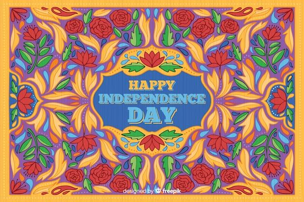 Fundo colorido do dia da independência indiana Vetor grátis