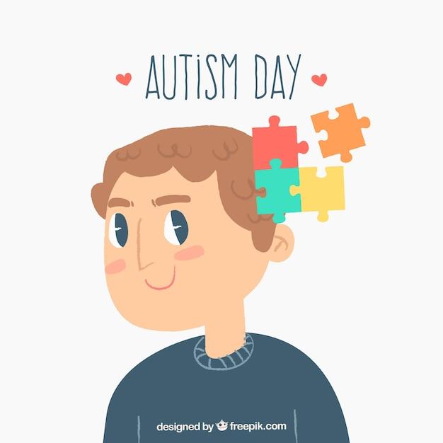 Fundo colorido do dia mundial do autismo Vetor grátis