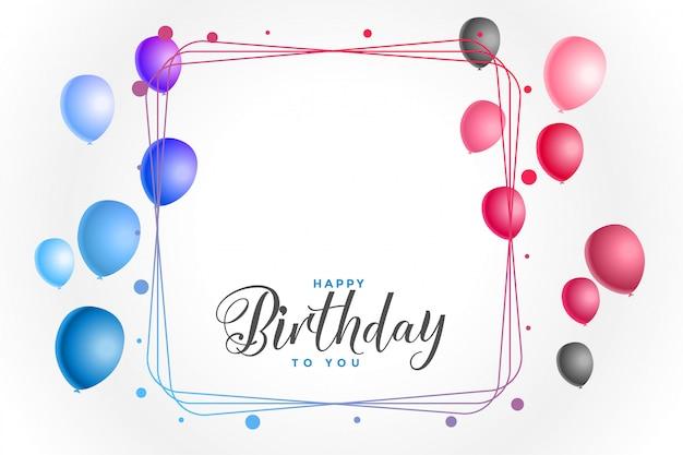 Fundo colorido feliz aniversário Vetor grátis