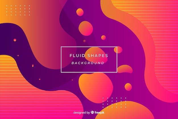 Fundo colorido formas fluidas Vetor grátis