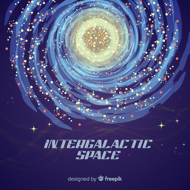 Fundo colorido galáxia com design plano Vetor grátis