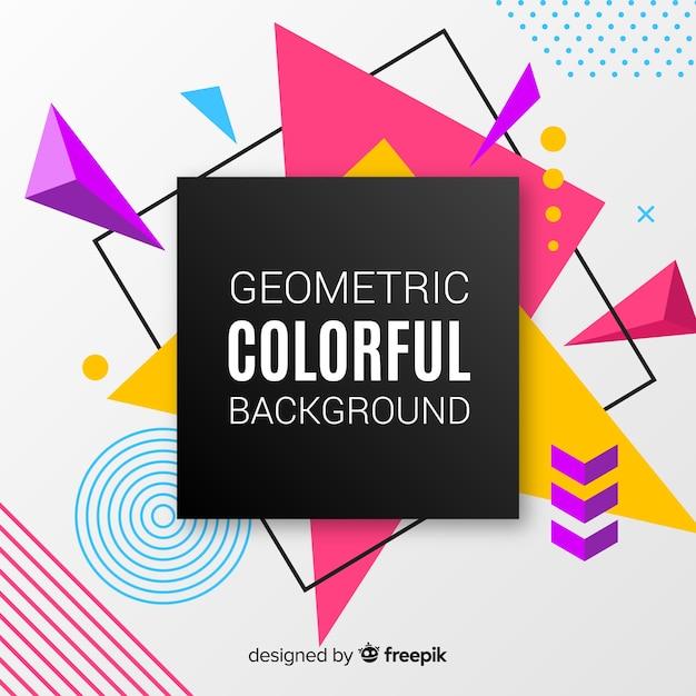 Fundo colorido geométrico Vetor grátis