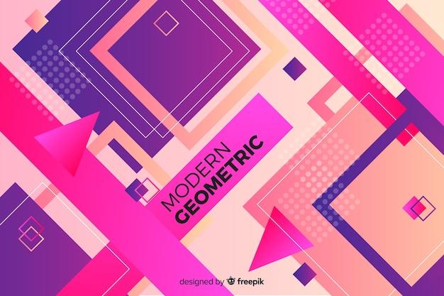 Fundo colorido gradiente formas geométricas Vetor grátis