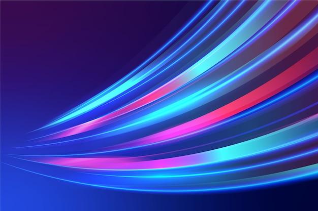 Fundo colorido luzes de néon Vetor grátis
