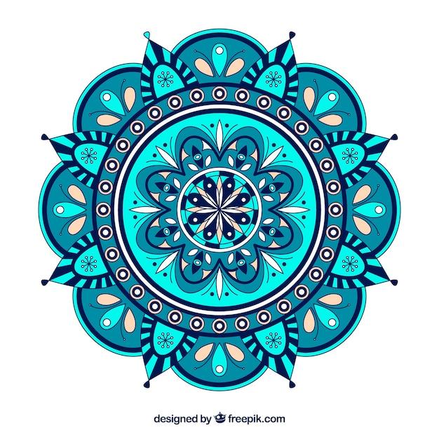 Fundo colorido mandala Vetor grátis