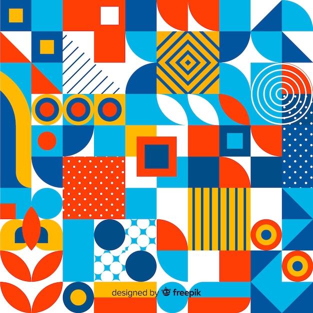 Fundo colorido mosaico geométrico Vetor grátis