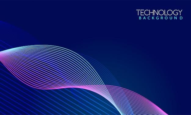 Fundo colorido onda dinâmica Vetor Premium