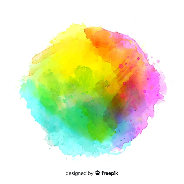 Fundo colorido respingo aquarela Vetor grátis