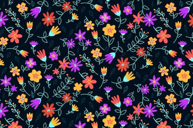 Fundo colorido servindo de impressão floral Vetor grátis