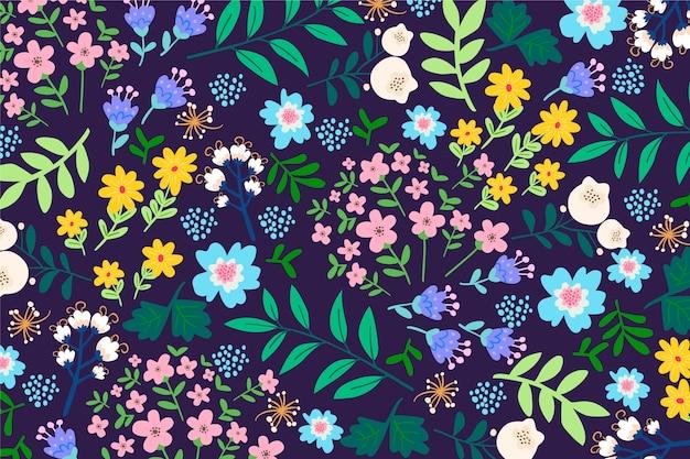 Fundo colorido servindo floral Vetor grátis