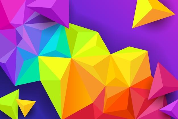 Fundo colorido triângulo Vetor grátis