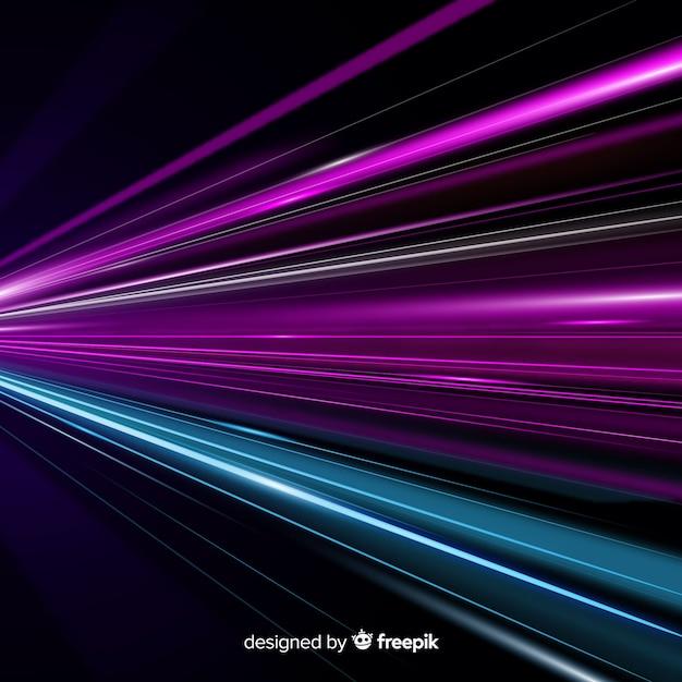 Fundo colorido trilha de luz Vetor grátis