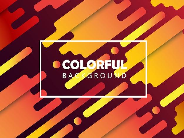 Fundo colorido Vetor Premium