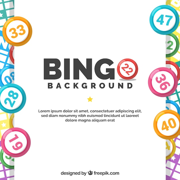 Fundo com bolas de bingo coloridas Vetor grátis