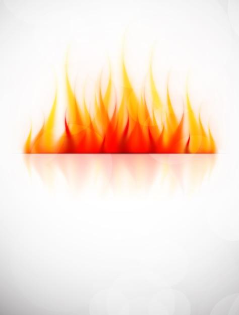 Fundo com chama de fogo. Vetor Premium