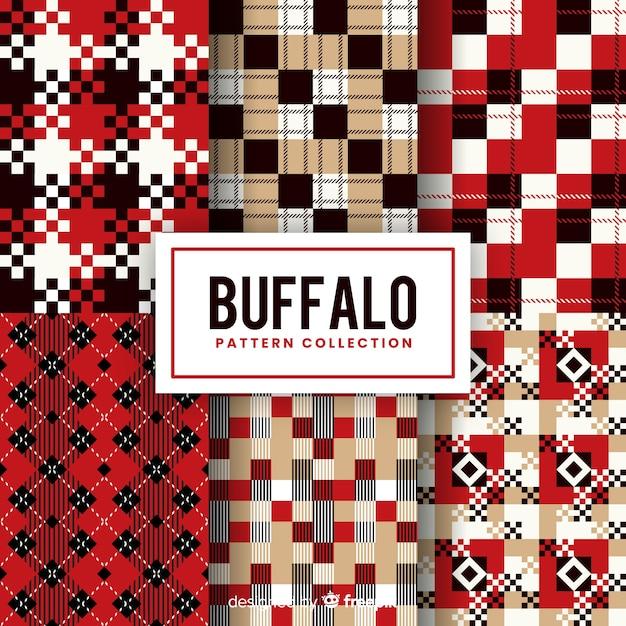 Fundo com conceito de padrão de búfalo Vetor grátis