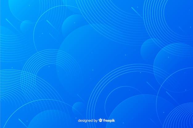 Fundo com desenho abstrato de círculos Vetor Premium
