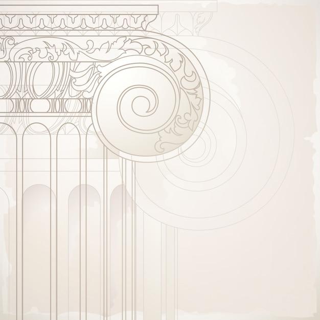 Fundo com elemento arquitectónico Vetor Premium