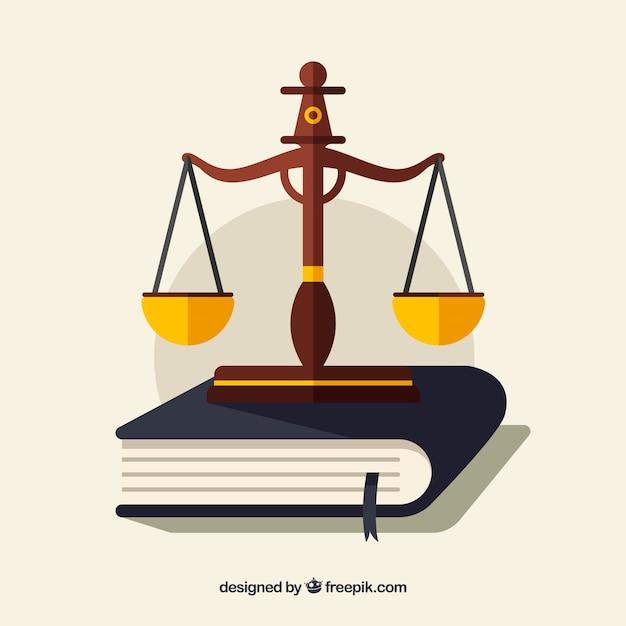 Fundo com elementos de defesa de direitos Vetor grátis