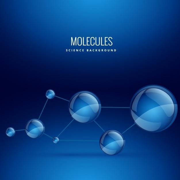 Fundo com formas molécula Vetor grátis