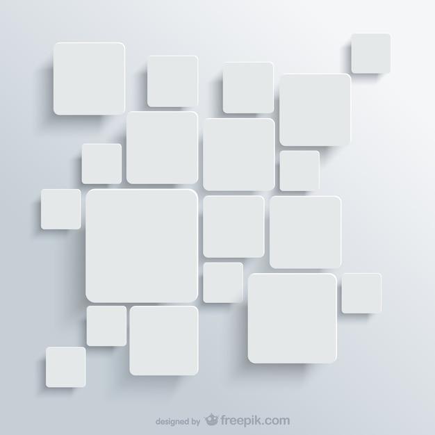 Fundo com quadrados brancos vector livre Vetor grátis