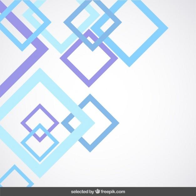 Fundo com quadrados esboçadas azuis e roxas Vetor grátis