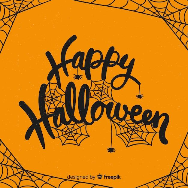 Fundo criativo de halloween feliz letras Vetor grátis