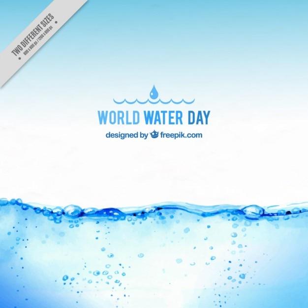 Fundo da água realista Vetor grátis