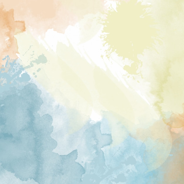 fundo da aguarela pastel Vetor grátis
