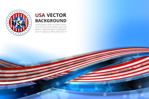 Fundo da américa para o dia da independência Vetor Premium